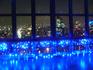 青い光越しの東京夜景